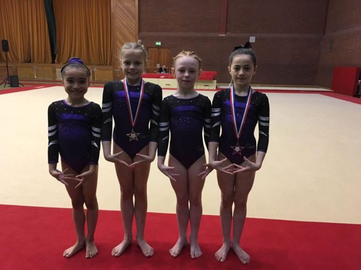 Compulsory Level 4 and 5 Gymnasts